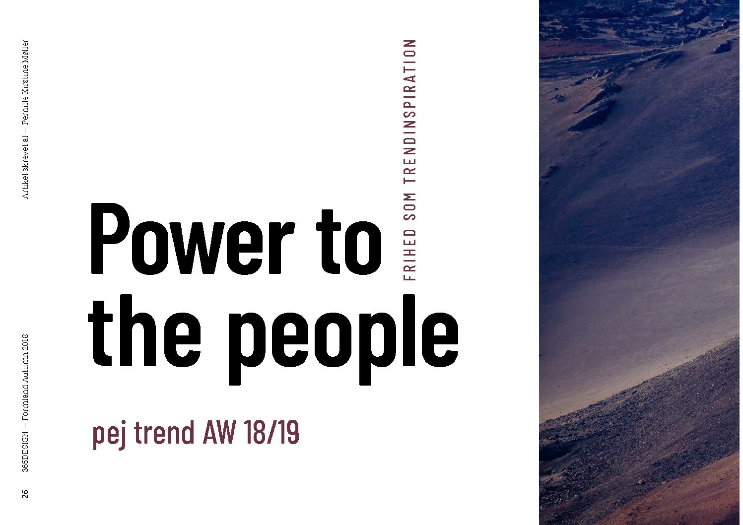 Power to the people! pej trend AW 18/19
